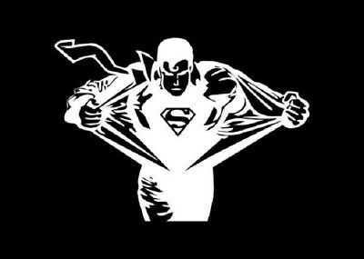 SUPERMAN Vinyl Decal - Sticker Car Truck SUV Van Bumper Wall Laptop Clark (Superman Decal)