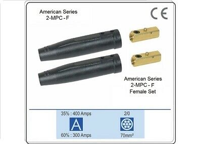 Welding Cable Connector 2-mpc-f Female Set 10-20 Twist Lock 2-mpc-f 2 Each