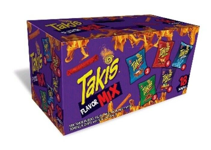 Takis Mix Hot & Spicy Snacks Variety Pack (1 oz/ 18 pk) Great Value!!!