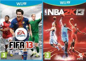 NBA 2k13 & FIFA 13 for WiiU