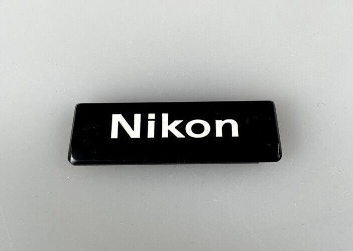 NIKON NAMEPLATE FOR F2 FINDER, Mint Black