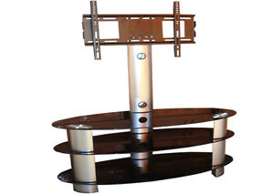 High-Gloss-Black-Glass-Swivel-Tilt-TV-Stand-With-Bracket-32-37-40-42-46-48-50-55