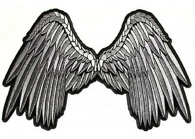 ((A54) Small GREY ANGEL WINGS 5
