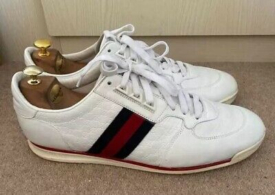 Gucci Ace White Trainers Sneakers UK11 Good Condition  Code 23334