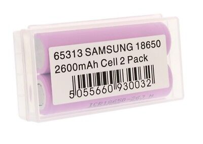 2X Samsung Li-ion Akku für CR123A / RCR123A Accu Batterie Battery Neu 2600mAh
