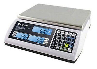 Cas S2000jr 30 Lbs Ntep Price Computing Retail Scale With Lcd Displaybrand New