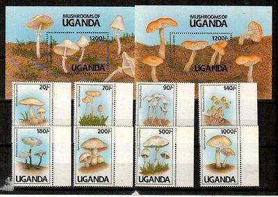 Uganda Scott 938-47 Mint NH (Catalog Value $30.10)