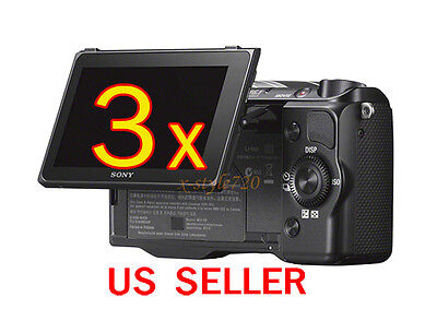 3x Sony Camera NEX-5R Clear LCD Screen Protector Guard Cover Film