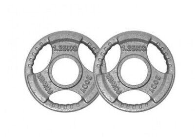 Body Power Tri Grip Cast Iron Olympic (2 Inch) Discs - 1.25Kg (x2) - BRAND NEW