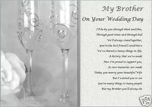 brother on your wedding day personalised gift ebay With wedding gifts for brother