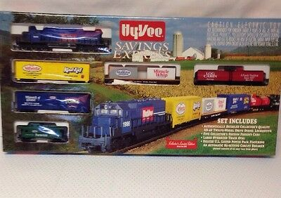 Hyvee Savings Express Train Set Collector Limited Edition Series One 1996 Kraft