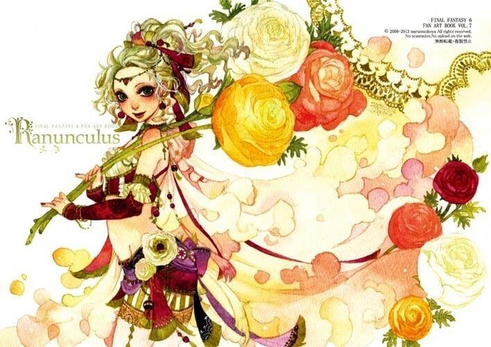 doujinshi sakizo ranunculus feat final fantasy 6 fan art book