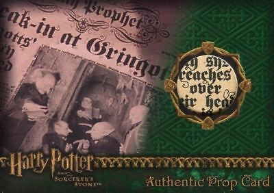 Harry Potter and the Sorcerer's Stone The Daily Prophet Prop Card HP #156/733