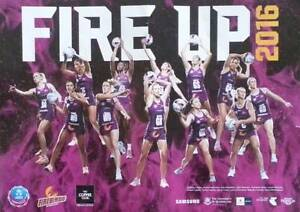 Queensland Firebirds netball poster Toowong Brisbane North West Preview