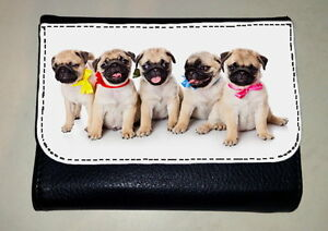 FAWN PUG PUPPIES MONEY PURSE WALLET PET DOG LOVER BREED PHOTO GIFT