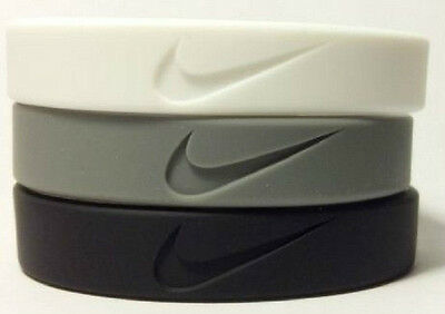 New Nike Sports Baller Band Silicone Rubber bracelet wristbands set of 3pc