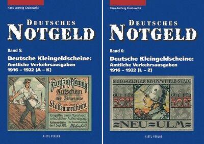 Deutsches Notgeld Band 5+6: Deutsche Kleingeldscheine 1916 - 1922 , 2 Bände
