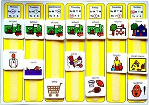 Autism Sensory Visual Learning Board PECs Weekly Planner Special Needs Symbols