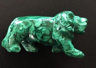 toller handgefertigter  Tiger aus Malachit
