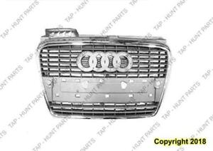 Grille (Chrome/Primed-Black) Without S-Line Package Audi A4 2005-2008