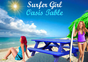 TABLE DE PIQUE-NIQUE OASIS SURFER GIRL USA PICNIC FOR SALE