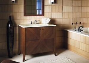 "New Kohler bathroom vanity + top + mirror ""Clermont"""