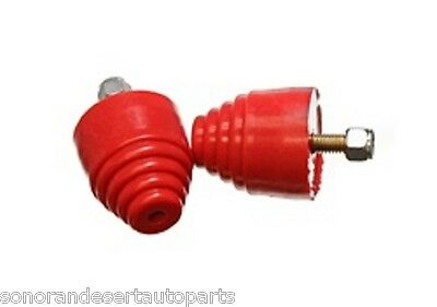 Energy Suspension 99101R All Purpose Red Bump Stop Set 2 18 inch Tall  2 in