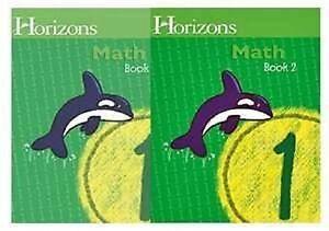 AOP-Horizons-MATH-1-Complete-SET-1st-Grade-WORKBOOKS-Homeschooling-Books-1-2
