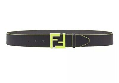 Mens Fendi Neon FF Calf Leather Belt 36in-90cm. New With Tags.