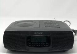 Sony ICF-CD820 AM/FM CD Clock Radio Player Dual Alarm Stereo Digital Portable