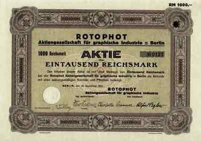 Rotophot AG graphische Industrie 1933 Berlin Coburg Oberfranken Buchverlag 1000
