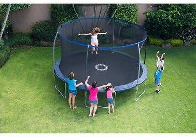 Bouncepro 14 Ft Trampoline with Proflex Enclosure and Electron Shooter Game Dark