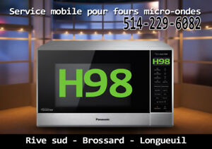 h98  inverter Réparation fours micro-ondes Panasonic