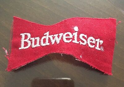 VINTAGE BUDWEISER BEER EMBROIDERED  PATCH