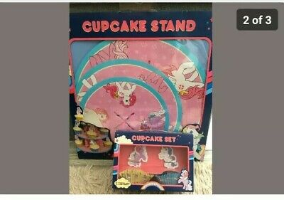 MY LITTLE PONY CUP CAKE STAND, CASES & TOPPERS NEW & SEALED CHILDRENS BAKING