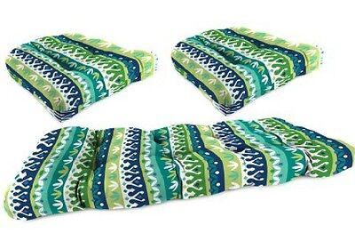 3-Piece Wicker Cushion Set Outdoor Home Garden Patio Furniture Cushions Settee