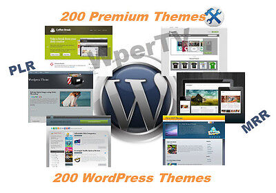 200 Premium Wordpress Site Themes With Resell Rights  Cd