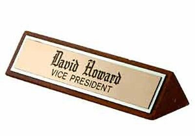 Personalized Desk Name Plate With Engraving Or Sublimation