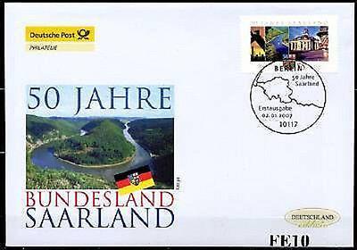 BRD 2007: 50 Jahre Saarland! Post-FDC der Nr. 2581 mit Berliner Stempel! 1704