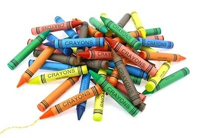 72 X WAX CRAYONS ASSORTED COLOURS KIDS PENCIL SET SCHOOL CHILDREN COLOURING DW