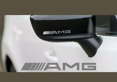 2x AMG Spiegel Aufkleber Silber Sticker Tuning Mercedes Türgriff, Spiegel.