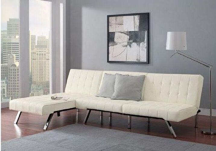 Sofa Set Sleeper Convertible Sectional Futon Chaise Lounge F