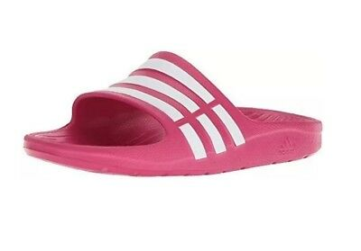 Youth Adidas Originals Duramo Slide Sandal Pink White Size 2