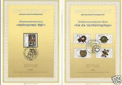 Berlin 1987: Wohlfahrt-+Weihnachts-ETB Nr. 789-792+797!