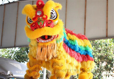 Cute Costumes For Adults (Cute For two adult Profession China Folk art Lion Dance mascot Costume wool)