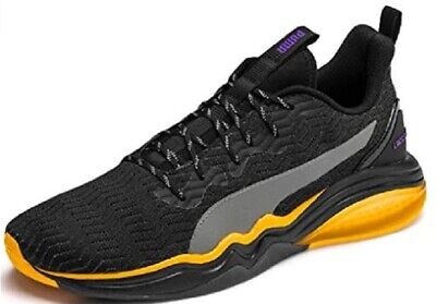 Puma LQDCELL Tension Rave Mens Fitness Training Trainer Shoe Black/Orange