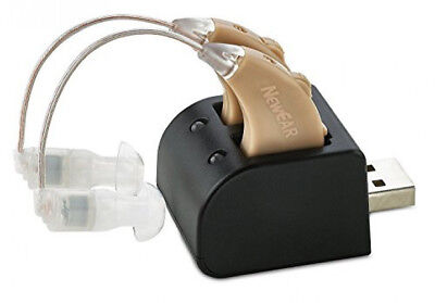 Hearing Amplifiers Set with New Digital Technology - Almost Invisible Design and