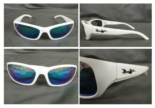 POLARIZED PANAMA JACK White Sunglasses Mens Blue to Green MI