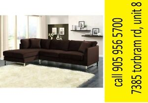 Sienna Modern 3-Seat Sectional Sofa w/ Left-Facing Chaise​