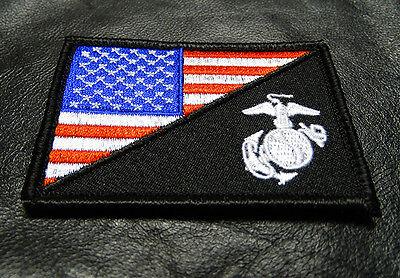 USA FLAG MARINE CORPS USMC  TACTICAL MORALE HOOK LOOP PATCH